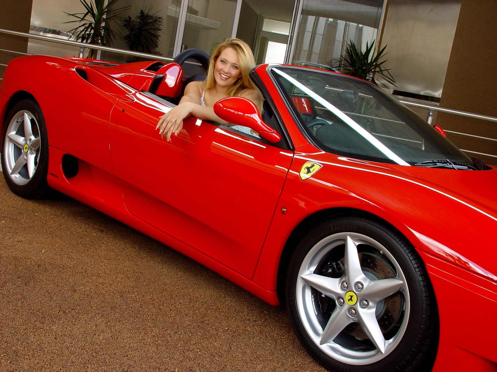 Red Porche with Miss Earth